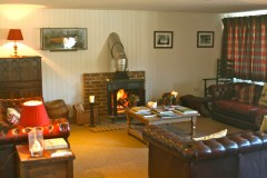 After a shooting day in Kent relax in the Noble Field Sports shoot lodge